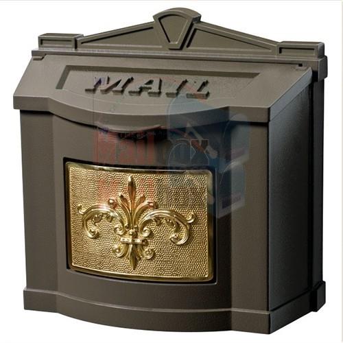 Gaines Fleur De Lis Wall Mount Mailbox Mailboxinstaller Com