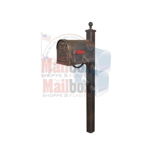 Special Lite Hummingbird Mailbox With Main Street Post