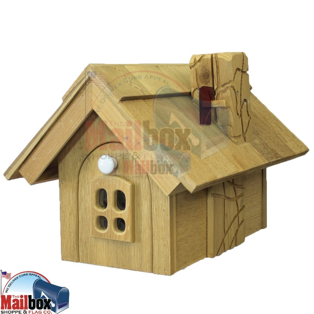 Cedar House Mid Size Mailbox Cm4 Mailboxinstaller Com